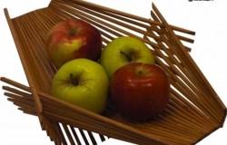 Складная деревянная корзинка для фруктов