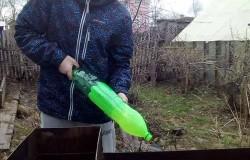 Веер для мангала из пластиковых бутылок