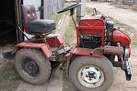 Самодельный трактор вид сбоку