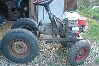 Самодельный трактор для пахоты