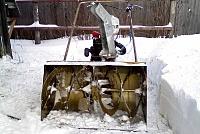 Снегоуборщик самодельный - вид спереди