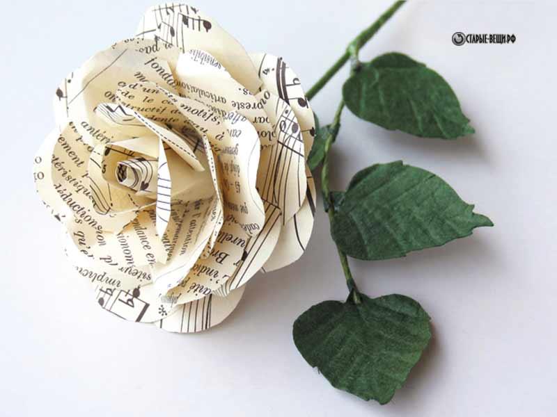 Как сделать розу из газеты своими