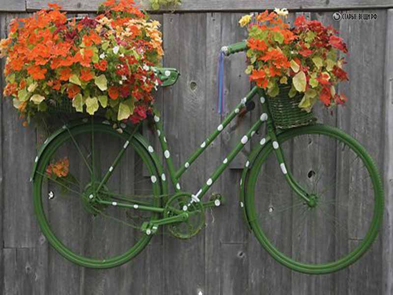 Велосипед в цветах своими руками