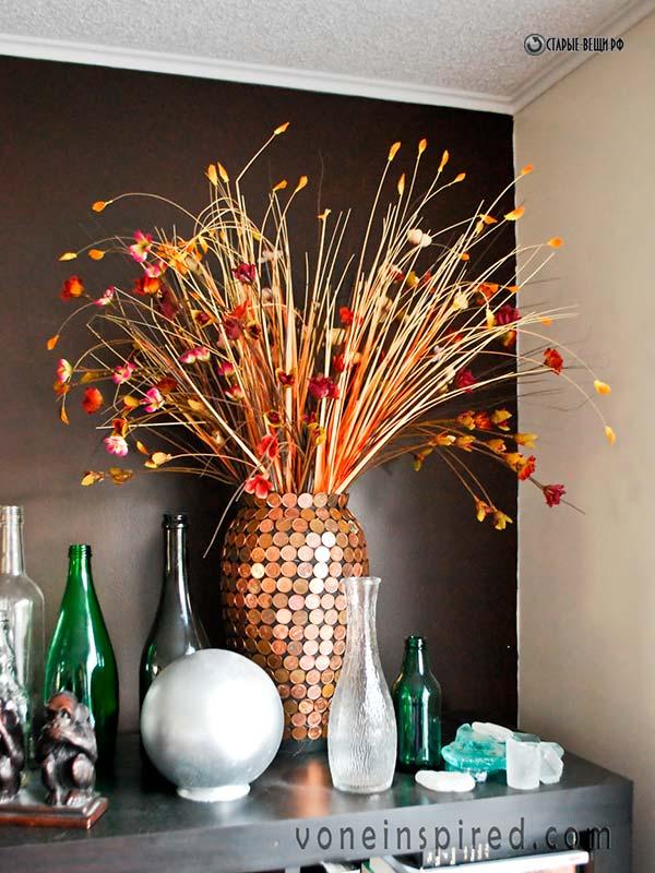 Декор для вазы напольной своими руками
