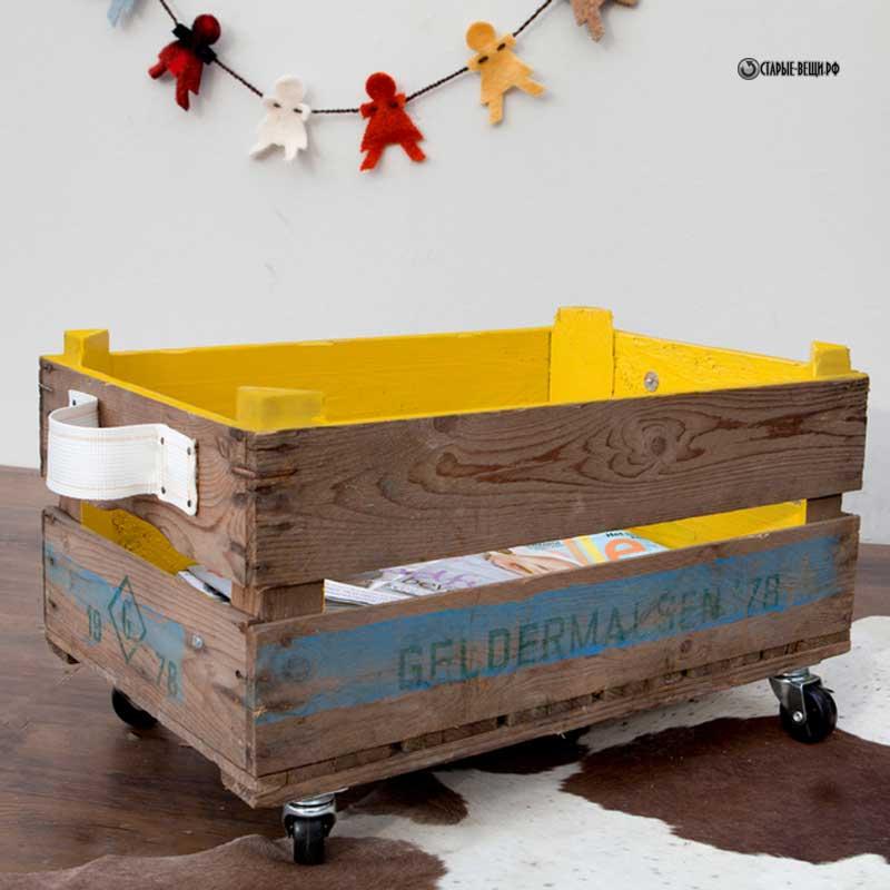 Декорируем обычный ящик Ярмарка Мастеров 48