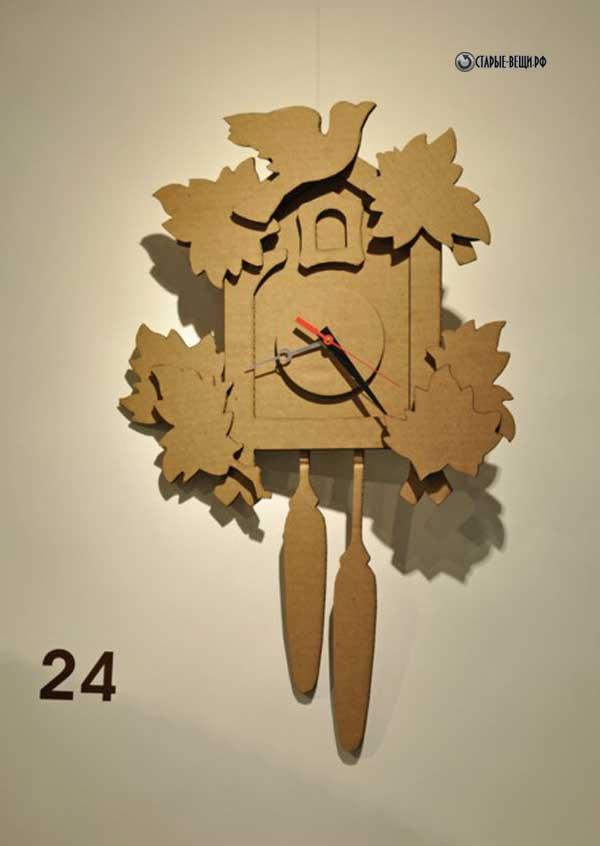 Часы из картона своими руками