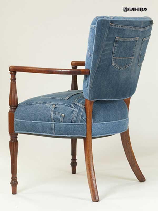 Чехол на стул из джинс своими руками