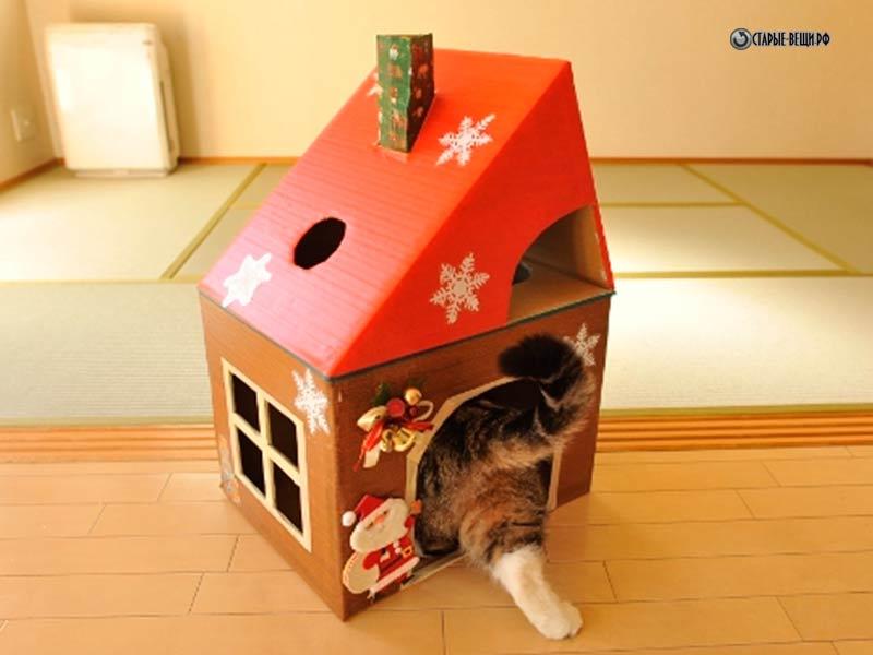 Домики для кошек своими руками из фанеры