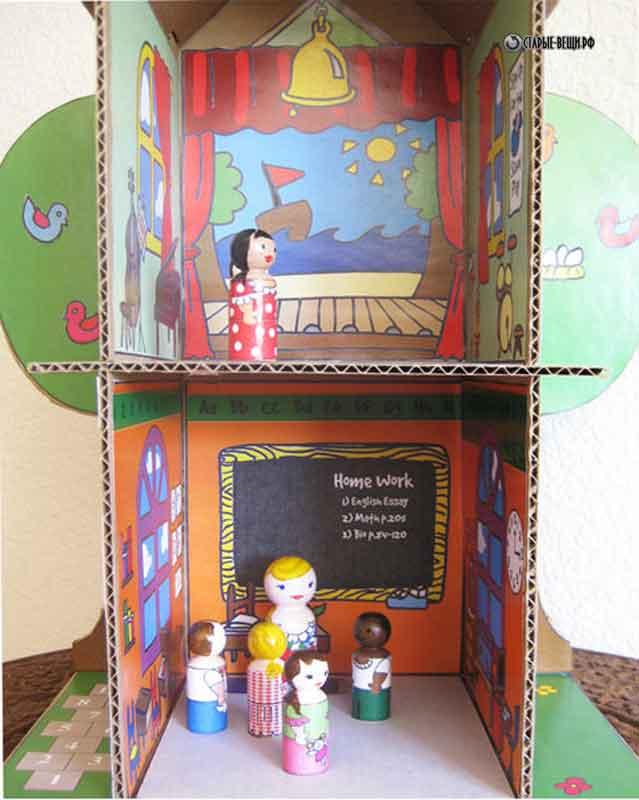 Мастер класс кукольный домик из картона