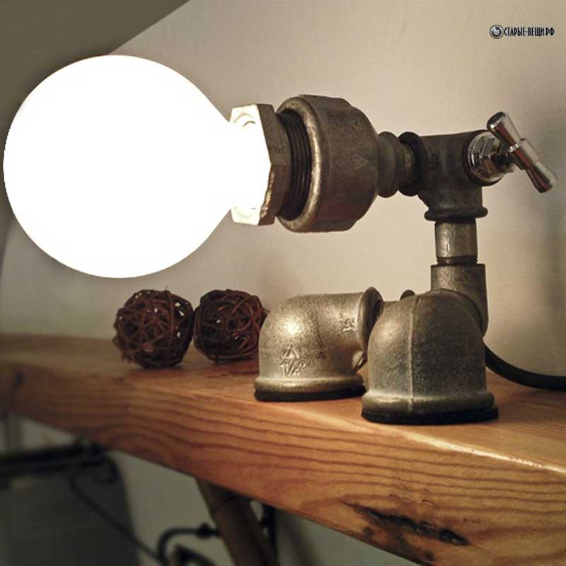 Светильники из труб фото