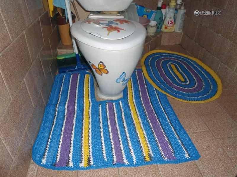 Как связать коврики для ванной