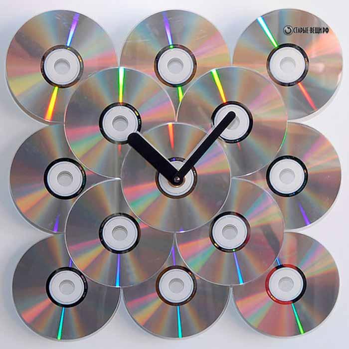 Поделка часы своими руками из дисков