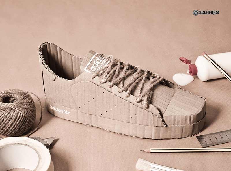 Как сделать кроссовок из картона
