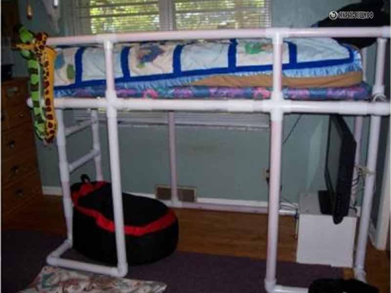 Детская кровать из труб пвх своими руками 78