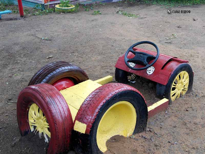 Детская машинка из шин своими руками фото 63