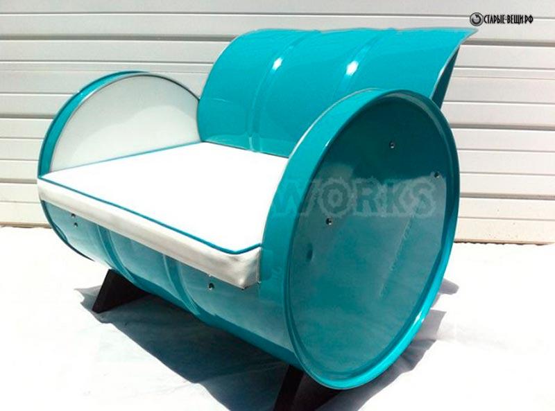 Кресло из бочки железной своими руками