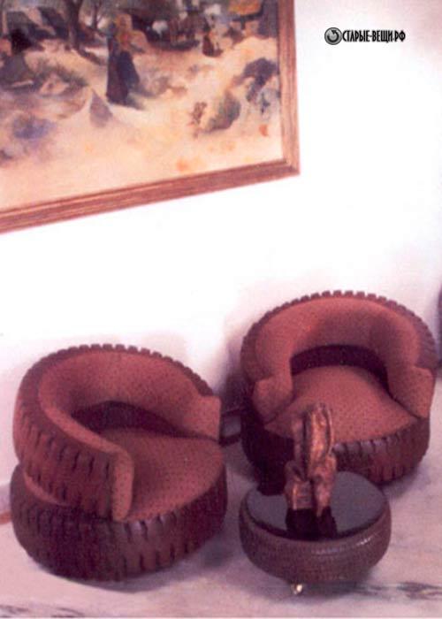 Мебель из покрышек своими руками фото