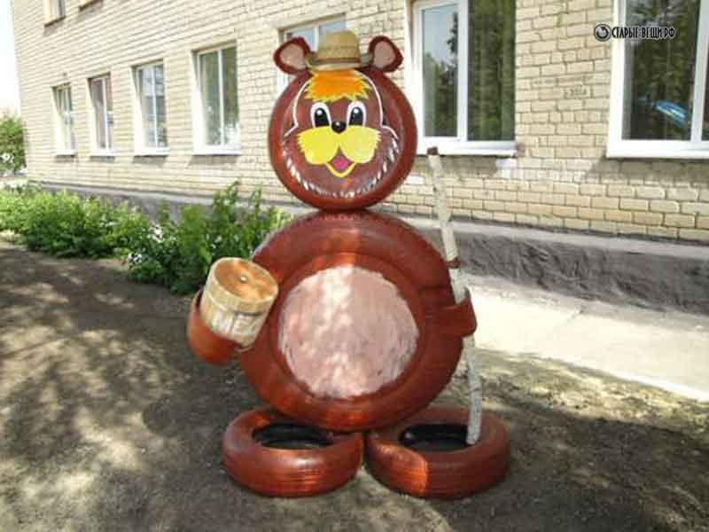 Поделки из шин медведя своими руками 45