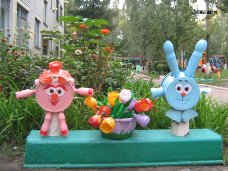 Поделки на участке детского сада своими руками