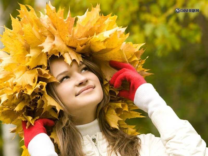 Венки осенние из листьев своими руками