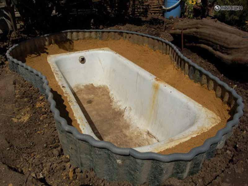 своими руками пруда из ванны