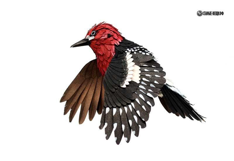 Фото по клику объемных птиц из
