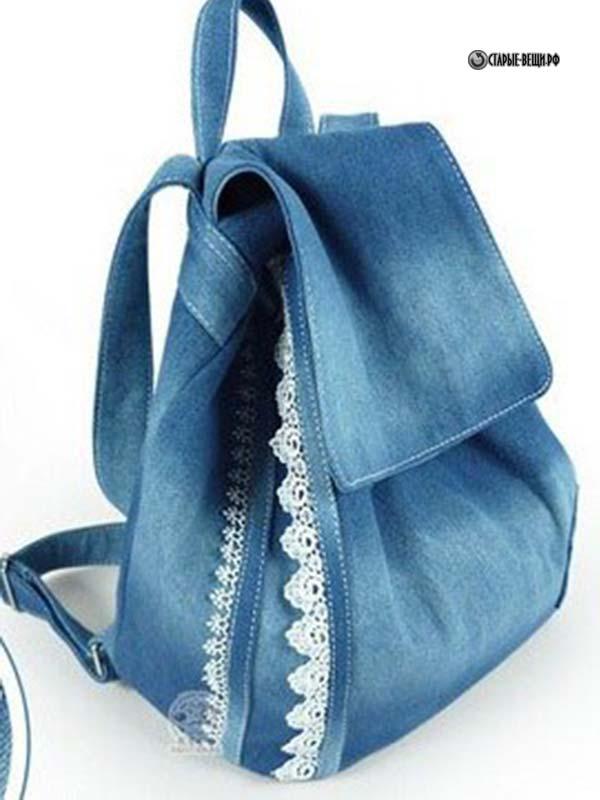 Детский рюкзак из старых джинсов своими руками мастер класс 38
