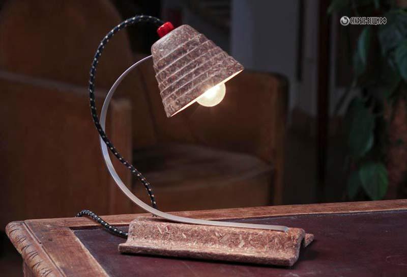 светильники из старых вещей фото