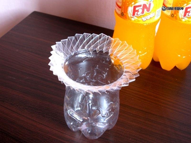 Вазы из пластиковых бутылок своими руками фото мастер класс