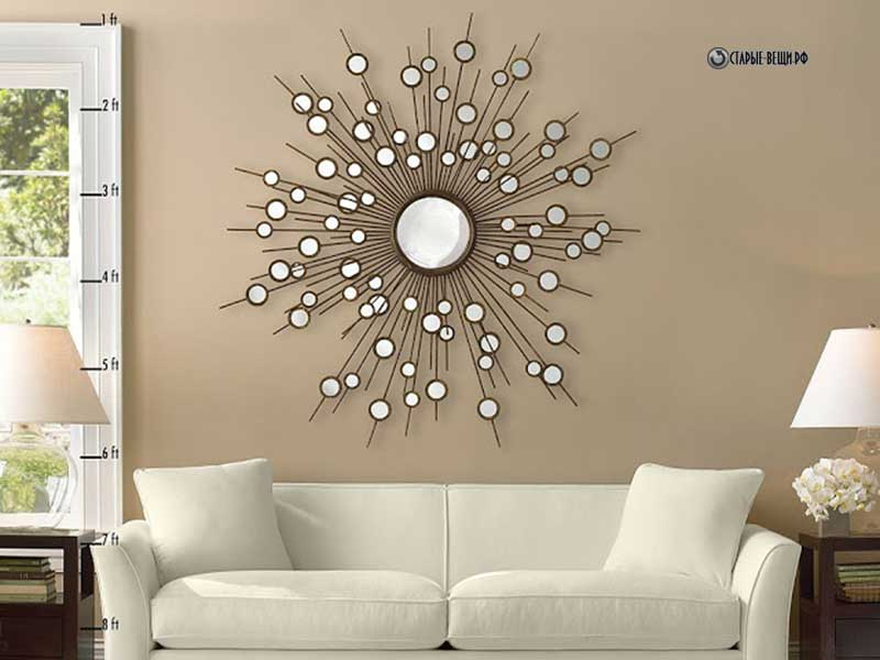 Декор на стену круглый