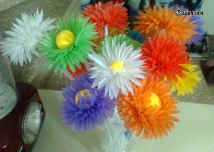 Цветок из трубочек для коктейля своими руками для детей 24