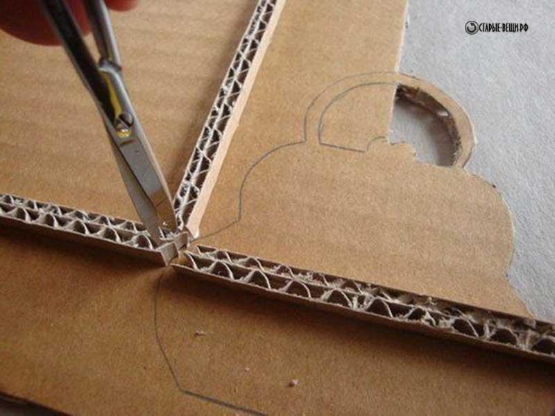 Как рамку для из картона своими руками