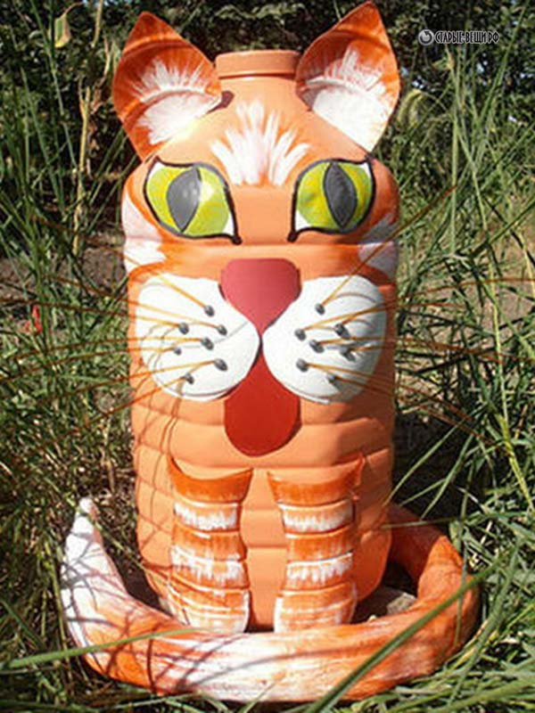 как сделать кота из пластиковой бутылки пошаговая инструкция - фото 11