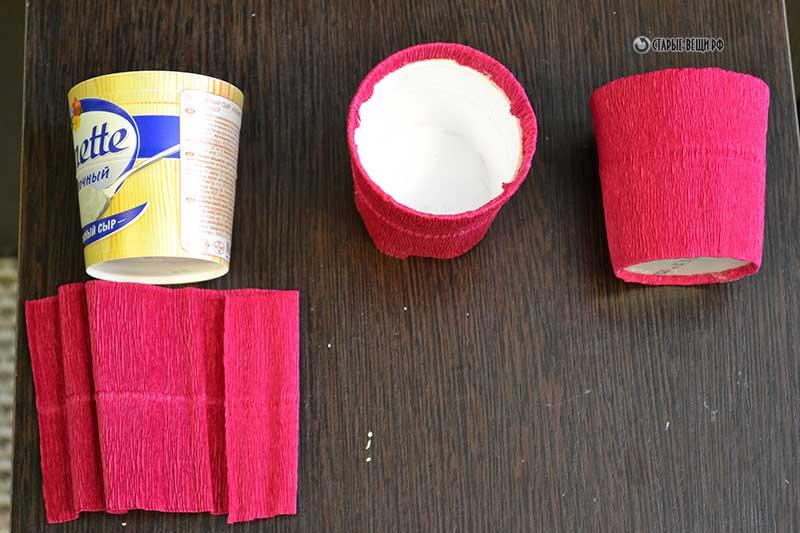 Как сделать из бумаги цветочный горшок