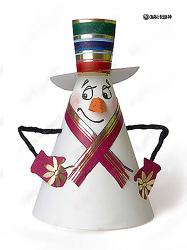 Снеговик своими руками из ватмана