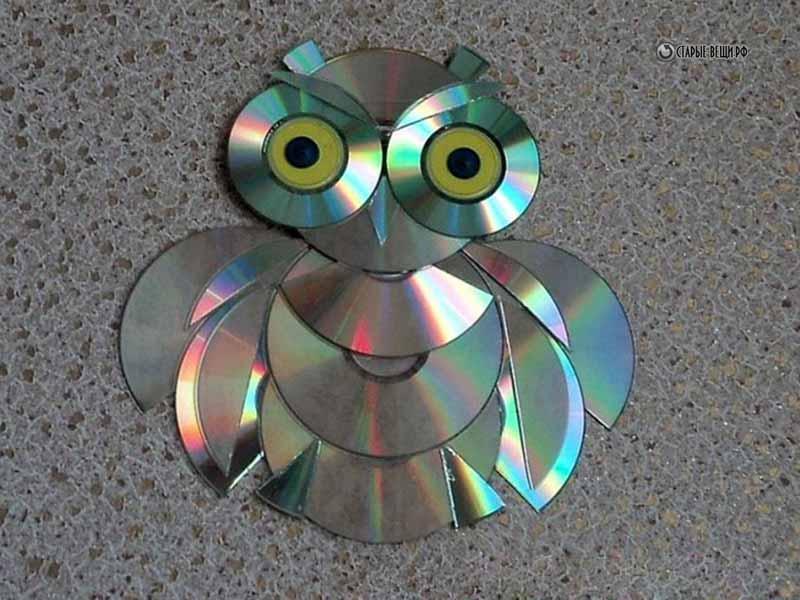 Как сделать из дисков своими руками сову