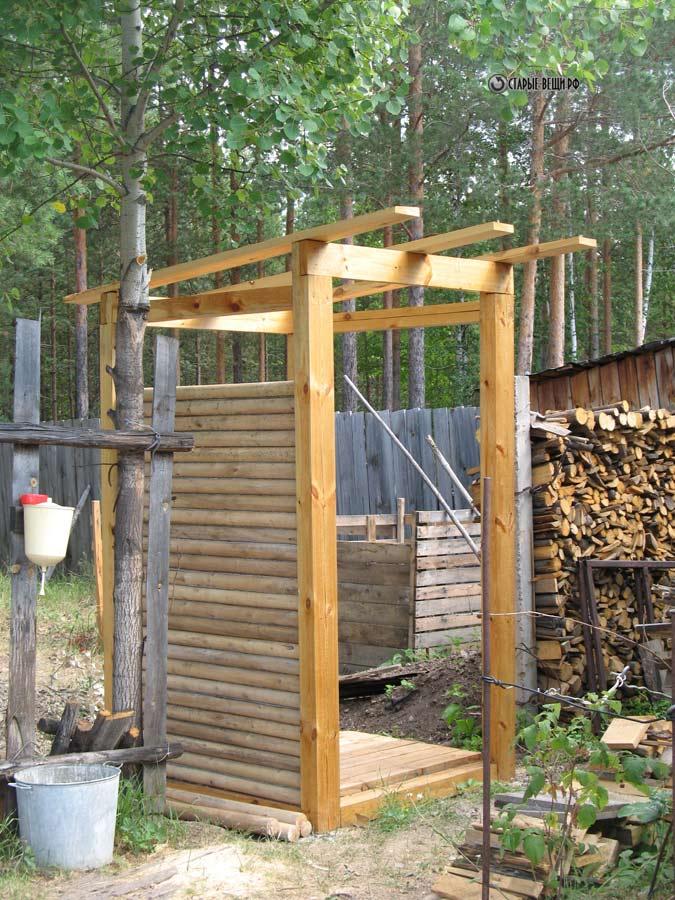 Как построить туалетный домик на даче своими руками поэтапно фото