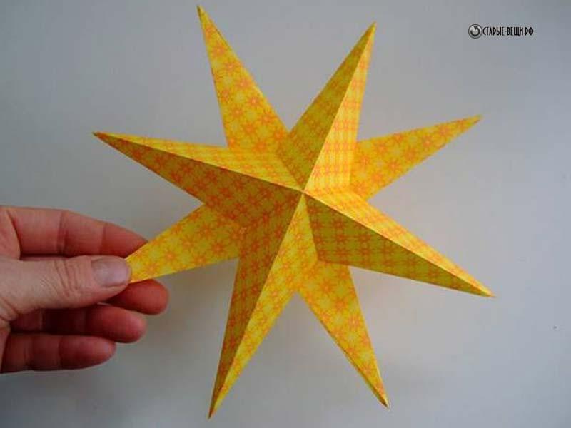 Новогодняя звезда из бумаги своими руками фото