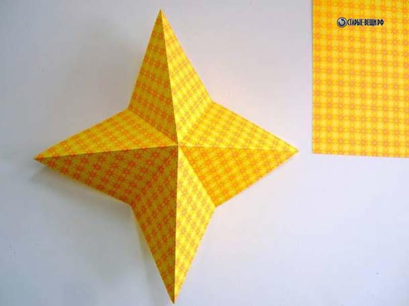 Ёлочные игрушки своими руками из бумаги звезда