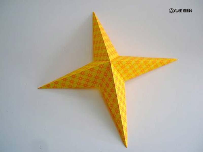 Объемные звездочки из бумаги своими руками