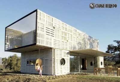 Дом из контейнеров+поддонов