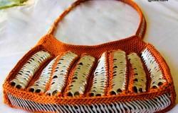 Женские сумки из баночных ключей