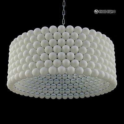 Абажуры светильников из мячей для настольного тенниса