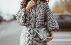 Вязаный кардиган — удобная и практичная одежда