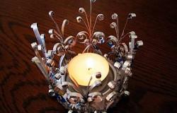 МК Подсвечник для свечей своими руками из пивной банки  в стиле квиллинг