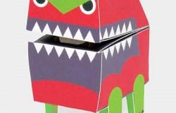 Коробки – роботы из бумаги