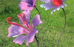 Поделки красивых цветов из металлолома