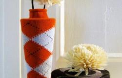 Декор для  вазы  из носков