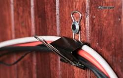 Стяжка проводов держателями для бумаг