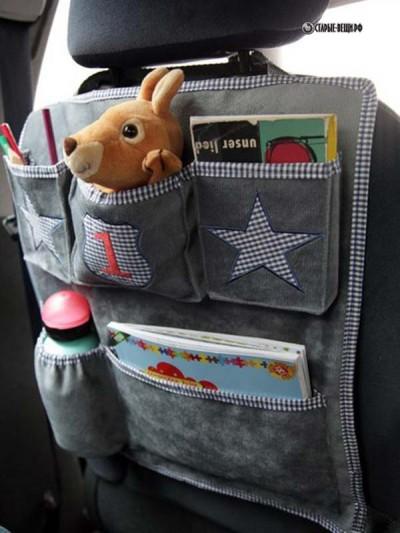 Детские органайзеры в машину или нужные кармашки на сидении